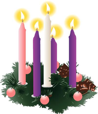 Five-Lit-Advent-Candles