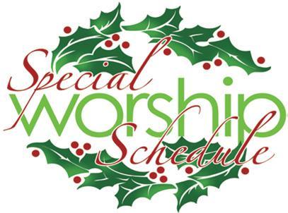 christmas-worship schedule